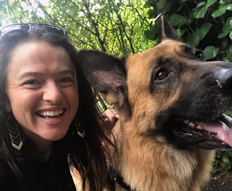 Sarah and Atlas the dog